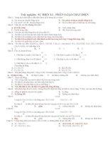 Tổng hợp trắc nghiệm Chương 1 có ĐA