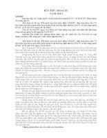 Bài thu hoạch Nghị quyết và kết luận Hội nghị lần VII BCHTW Đảng khóa XI