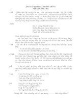 Kich ban sinh hoat truyen thong dai hoi lien doi 2013-2014