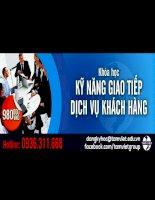 Khóa học kỹ năng giao tiếp và dịch vụ khách hàng  Tâm Việt