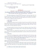 KẾ HOẠCH TỔ CHỨC NGÀY HỘI THỦ LĨNH THANH NIÊN 2013