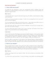 Các dạng câu hỏi và câu trả lời thi nói IELTS