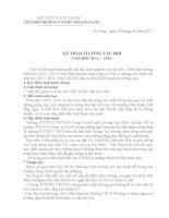 Kế hoạch hoạt động Đội năm học 2013 - 2014
