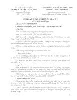 Kế hoạch thực hiện nhiệm vụ năm học 2013-2014
