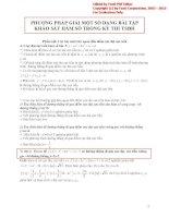 phương pháp giải một số dạng bài tập khảo sát hàm số trong kì thi tuyển sinh đại học_luyện thi đại học môn toán khối a, b, d