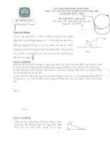 đề thi chính thức môn vật lý 10 các trường chuyên