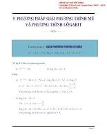 9 phương pháp giải phương trình mũ và phương trình lôgarit_tài liệu học tập môn toán lớp 12