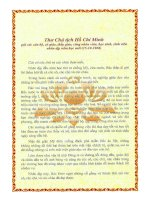 Bức thư cuối Bác Hồ gửi Thày, cô, học sinh nhan ngày khai trường