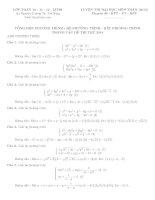bài tập tổng hợp hệ phương trình - phương trình - bất phương trình 2015