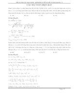 Bài tập điện xoay chiều hay lời giải chi tiết