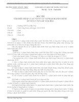 Bài dự thi tìm hiểu pháp luật về xử lý vi phạm hành chính huyện CưM'gar năm 2013