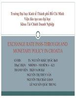 tiểu luận môn tài chính quốc tế exchange rate pass-through and monetary policy in croatia