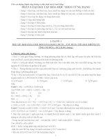 phân loại bài tập hóa học theo từng dạng_luyện thi đại học môn hóa