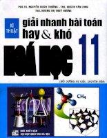 kỹ thuật giải toán nhanh hay và khó hóa học 11