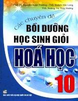 chuyên đề bồi dưỡng học sinh giỏi hóa học 10
