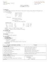 Giáo án Tiếng Anh 6 - Tuần 6