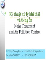 kỹ thuật xử lý khí thải và tiếng ồn