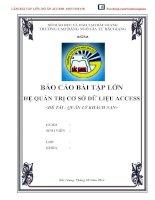 Báo cáo bài tập lớn hệ quản trị cơ sở dữ liệu access