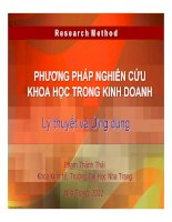 phương pháp nghiên cứu khoa học trong kinh doanh lý thuyết và ứng dụng