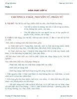 Sổ tay kiến thức hóa học 8 - 9