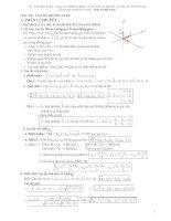 Tổng hợp lí thuyết và hệ thống bài tập LTĐH phần tọa độ không gian