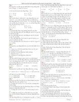 2020 câu hỏi trắc nghiệm ôn thi đại học môn vật lý
