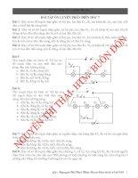 Chuyên đề bồi dưỡng HSG Điện học 7(Cực hay)