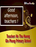 Unit 5 - Lesson 1 - Tieng Anh 4