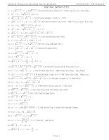 Phương trình vô tỷ (tổng hợp)
