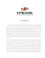 Thực trạng hoạt động tín dụng ngân hàng đối với doanh nghiệp vừa và nhỏ tại ngân hàng VPBank