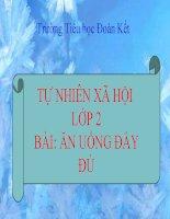 TNXH LOP 2 BAI AN UONG DAY DU
