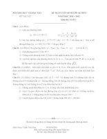 Bộ đề thi thử toán chuyển cấp lớp 10