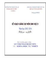 kế hoạch giảng dạy hóa học 8