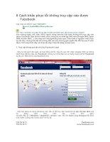 khác phục lỗi không vào facebook