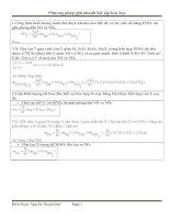 Phương pháp giải nhanh một số dạng bài tập hóa học