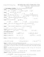 đề kiểm tra chất lương đầu năm toán 9