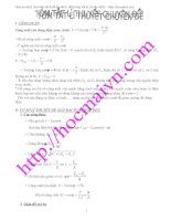 Các bài tập hay và khó môn vật lí