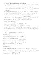 Phươntg pháp giải phương trinh vô tỷ bằng phương pháp đặc biệt