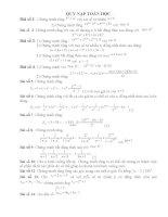 Bài tập Phương pháp Quy nạp toán học