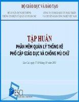 Tai lieu tap huan su dung phan mem thong ke PCGD