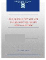 tiểu luận tình hình lạm phát việt nam giai đoạn 2007-2009 nguyên nhân và giải pháp