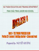 Unit 6 Listen and read tieng anh 8