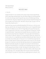 Cuộc đời, sự nghiệp văn chương, tư tưởng của Nguyễn Trãi