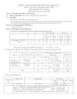 Đề thi học kỳ 1 vật lý 8