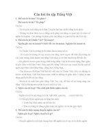 Câu hỏi ôn tập tiếng Việt lớp 6 HKI
