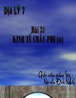 Dia 7 Bai 31 Kinh te Chau Phi tt.ppt