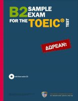 B2 sample exam for the toeic test for the web