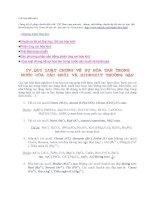 Phương pháp giải nhanh bài tập hóa học 12