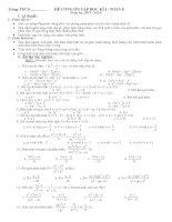 Đề cương ôn tập toán 8 2013-2014