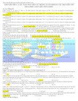 Các chuyên đề hóa học ôn thi ĐH - CĐ